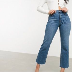 ASOS cropped flare jeans
